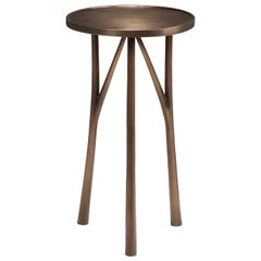HOLLY HUNT Juniper Round Table in Bronze Monument Light Bronze Patina Finish