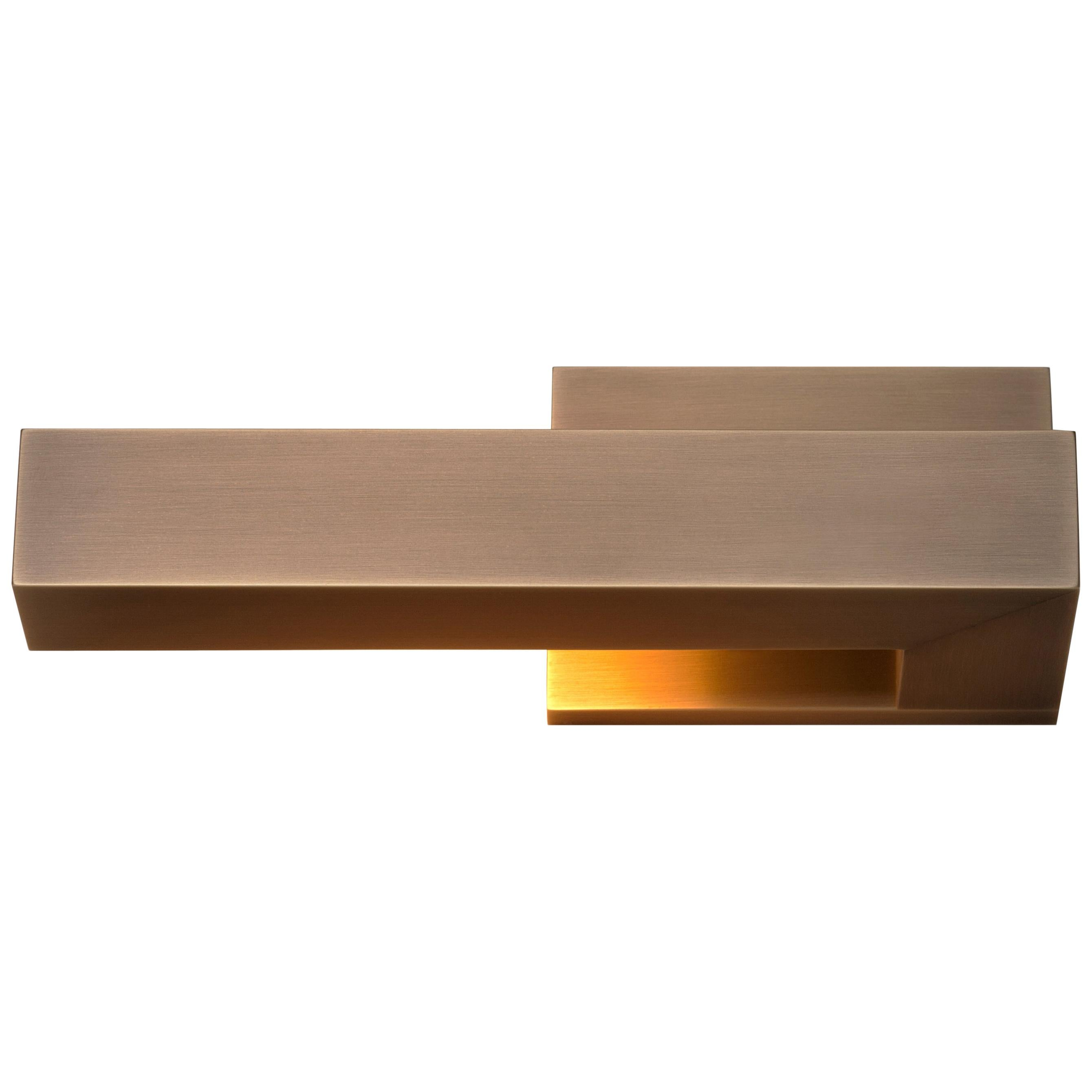 HOLLY HUNT Left Facing Bar Wall Sconce in Golden Bronze Patinated Finish