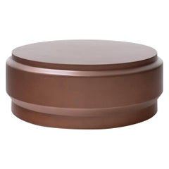 HOLLY HUNT Lotus Extra-Large Circular Table in Copper Hollow Cast Concrete