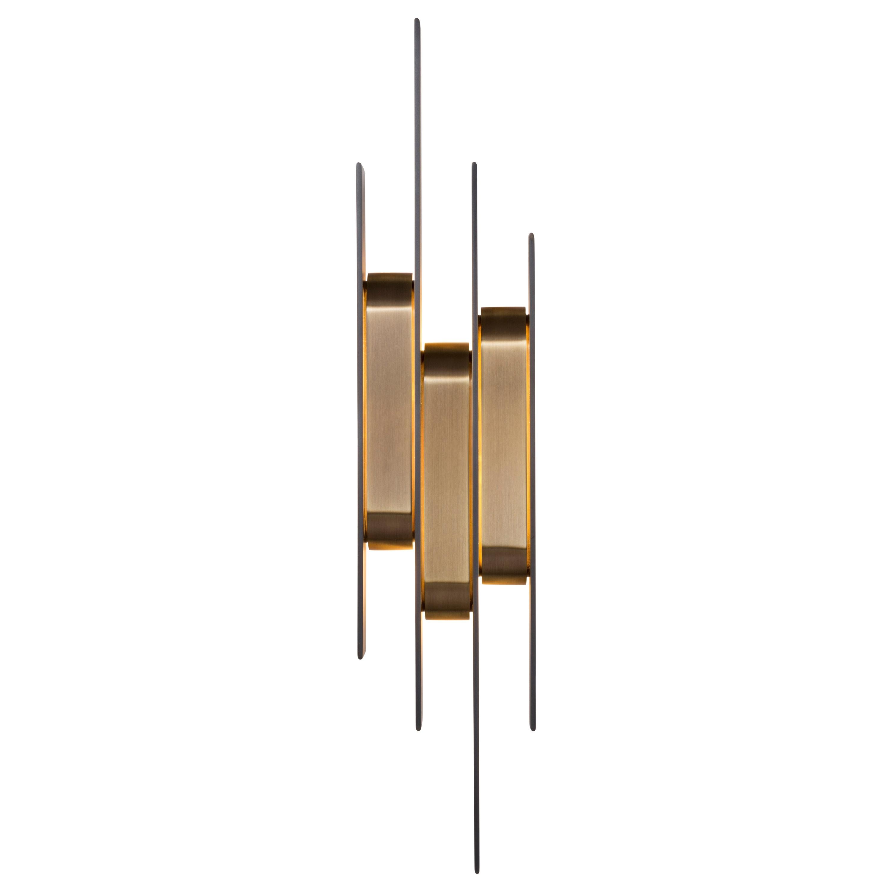 HOLLY HUNT Meridian Sconce in Metal Golden Bronze Patina Finish