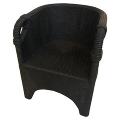 HOLLY HUNT Minodroi HH2025045 Armchair in Black Painted Cotton
