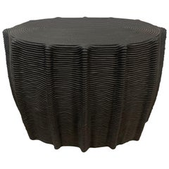 HOLLY HUNT Mivale HH024302 Side Table in Black Cord by Christian Astuguevieille
