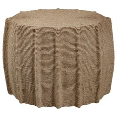 HOLLY HUNT Mivale Occasional Table in Hemp Rope by Christian Astuguevieille