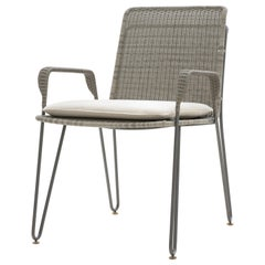 HOLLY HUNT Outdoor Pelican Dining Chair with Oyster Base Finish