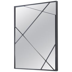 HOLLY HUNT Perspective Mirror in Metal Dark Bronze Finish