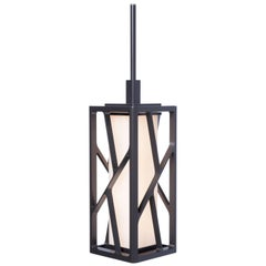 Holly Hunt Reef LED Pendant in Aluminum Structure with Obsidian Finish
