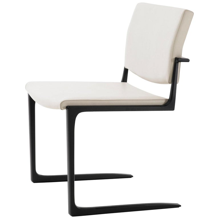 HOLLY HUNT Shadow dining chair with aluminum frame and stingray leather, new