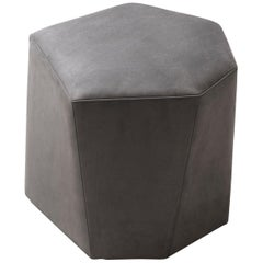HOLLY HUNT Vrille Ottoman in Elephant Leather