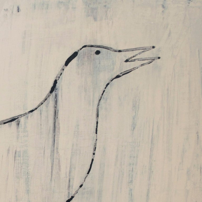 Bird with Five Legs - Contemporary Mixed Media Art by Holly Roberts