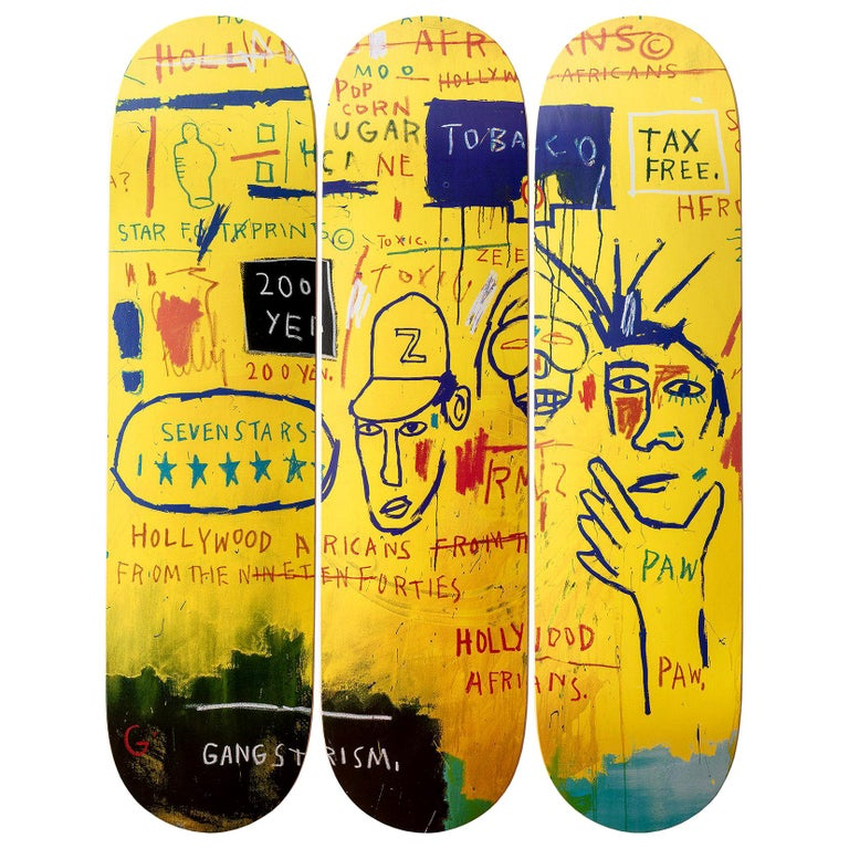 Hollywood Africans Skateboard Decks after Jean-Michel Basquiat For Sale
