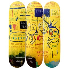 Hollywood Africans Skateboard Decks after Jean-Michel Basquiat