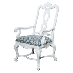 Hollywood Glam White Lacquered Armchair