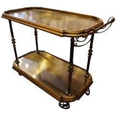 Hollywood Midcentury Regency Revival Tea Trolley Bar Wagon, Italy