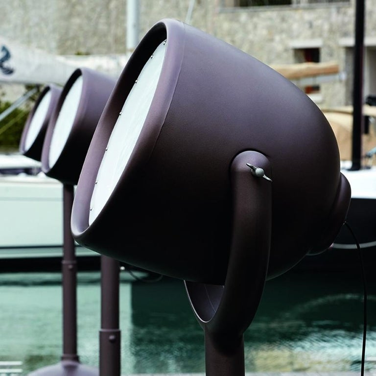 Modern Hollywood Brown Outdoor Dimmable Floor Lamp by BrogliatoTraverso, Made in Italy For Sale