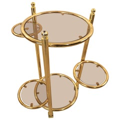 Hollywood Regency Multifunctional Side Table in the Style of Maison Jansen