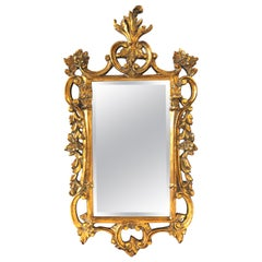 Hollywood Regency Baroque Style Mirror with Giltwood Frame