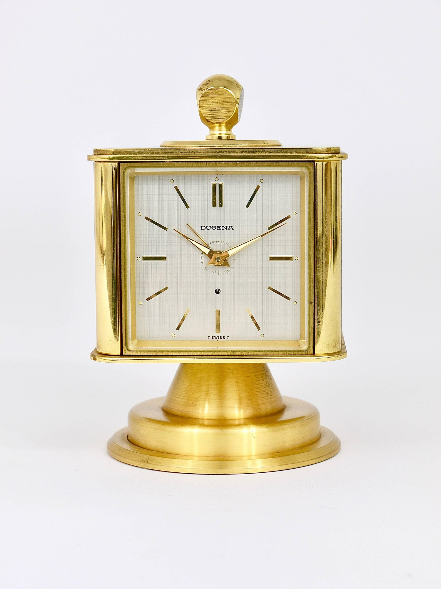 Hollywood Regency Brass Alarm Desk Clock And Weather Station By Dugena Germany For At 1stdibs
