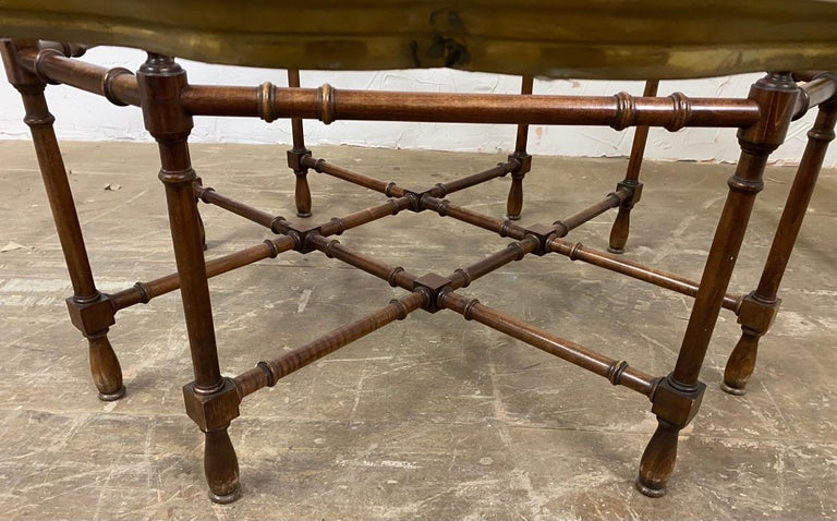 Unknown Hollywood Regency Brass and Glass Tray Coffee Table For Sale