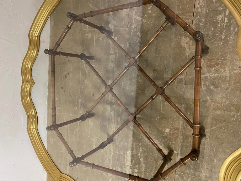 Hollywood Regency Brass and Glass Tray Coffee Table In Good Condition For Sale In Great Barrington, MA