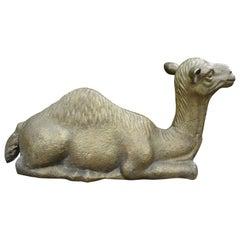 Hollywood Regency Brass Camel Statue