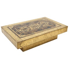 Hollywood Regency Brass Coffee Table for Mastercraft by Bernhard Rohne
