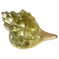Hollywood Regency Brass Seashell