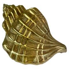 Hollywood Regency Brass Seashell