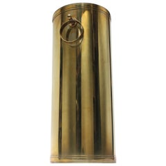 Hollywood Regency Brass Umbrella Stand after Tommi Parzinger