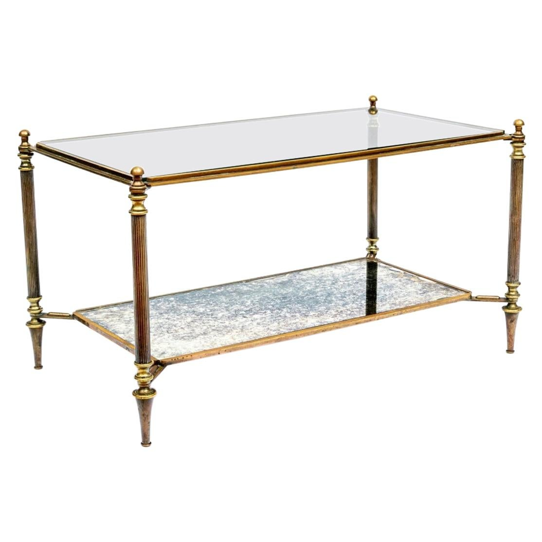 Hollywood Regency Bronze Cocktail Table