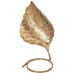 Hollywood Regency Carlo Giorgi Brass Palm Tree Table Lamp, Italy, 1970s