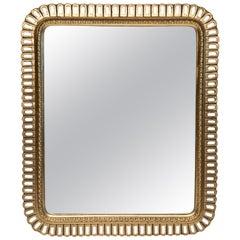 Hollywood Regency Carved Giltwood Rectangular Mirror