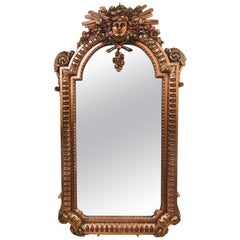 Hollywood Regency Carved Wall Console or Over the Mantle Mirror