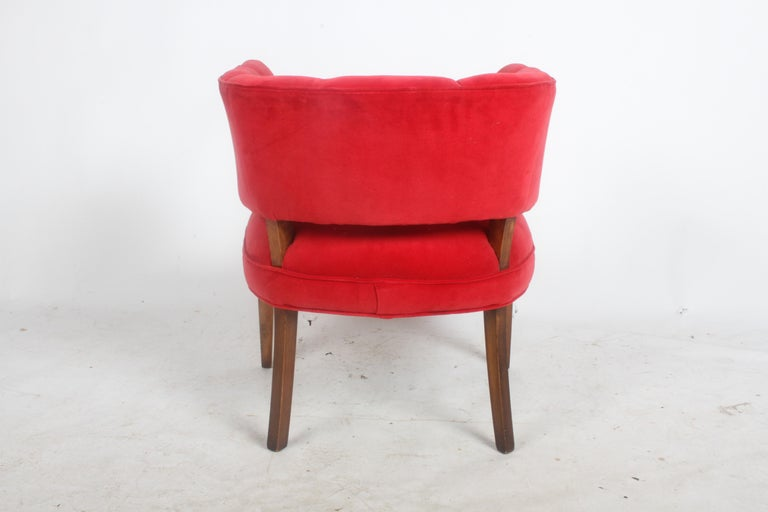 Hollywood Regency Channel Back Club Chair in the Style of William Billy Haines For Sale 3