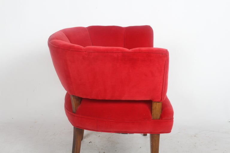 Hollywood Regency Channel Back Club Chair in the Style of William Billy Haines For Sale 6