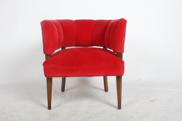Hollywood Regency Channel Back Club Chair in the Style of William Billy Haines For Sale 2