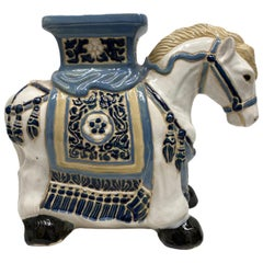 Hollywood Regency Chinese Horse Pony Garden Plant Stand, Seat or Yard Decoration