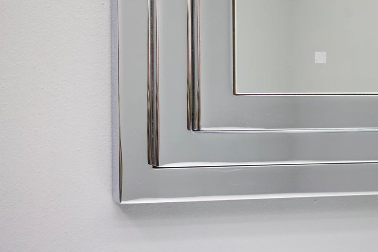 Hollywood Regency Chrome Mirror and Console Table, France, 1974 For Sale 3