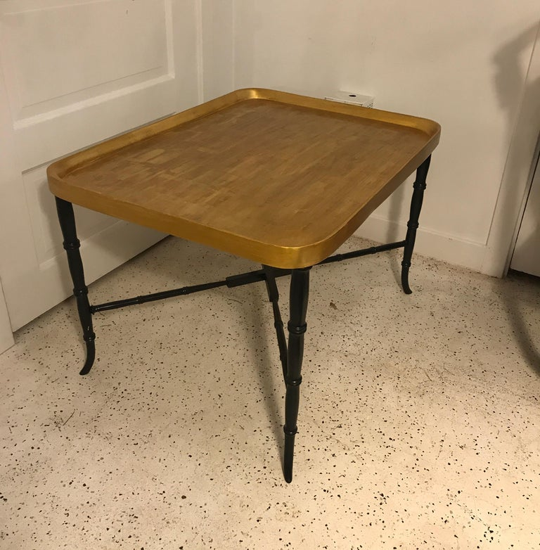 Giltwood Hollywood Regency Cocktail Table For Sale