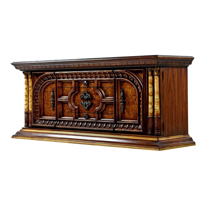Hollywood Regency Credenza Dresser Faux Ebony Greek Revival