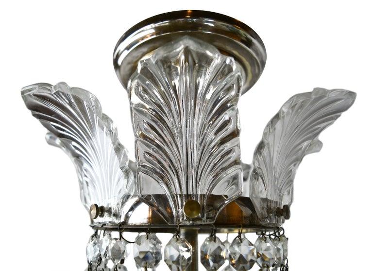 Hollywood Regency Crystal Chandelier For Sale 1