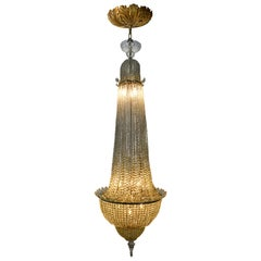 Hollywood Regency Crystal Chandelier
