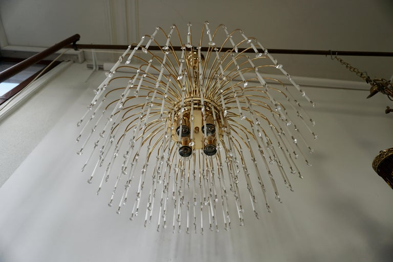 Hollywood Regency Cut Crystal Waterfall Chandelier For Sale 2