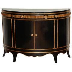 Hollywood Regency Demilune Cabinet
