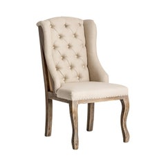 Hollywood Regency Design Wingback Chesterfield Chair