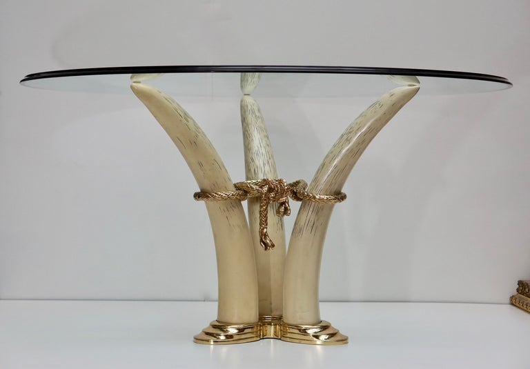 Hollywood Regency Dining Table by Valenti, Barcelona, Spain, circa 1970-1980 For Sale 3