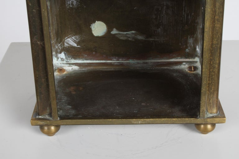 Hollywood Regency Edward Alden Brass Wall or Table Display Curio Parzinger Style For Sale 7