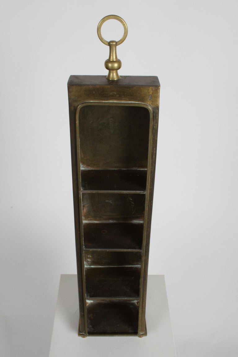 Hollywood Regency Edward Alden Brass Wall or Table Display Curio Parzinger Style For Sale 9
