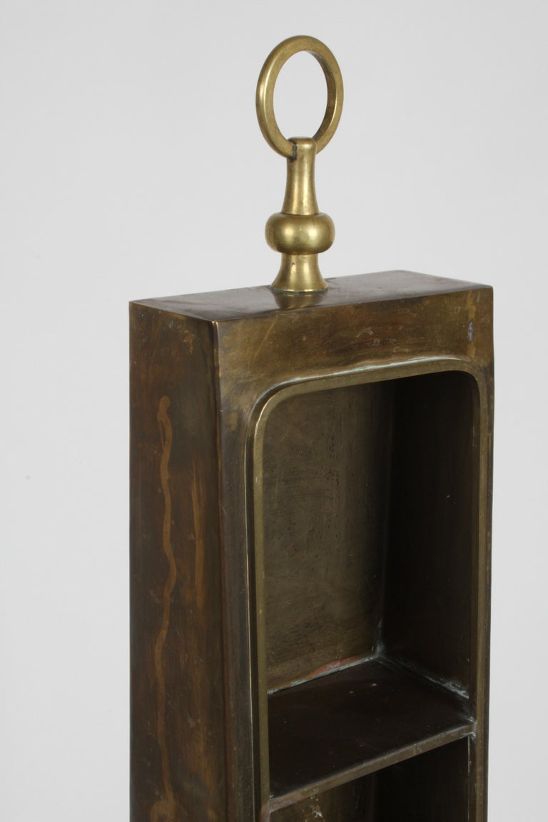 Hong Kong Hollywood Regency Edward Alden Brass Wall or Table Display Curio Parzinger Style For Sale