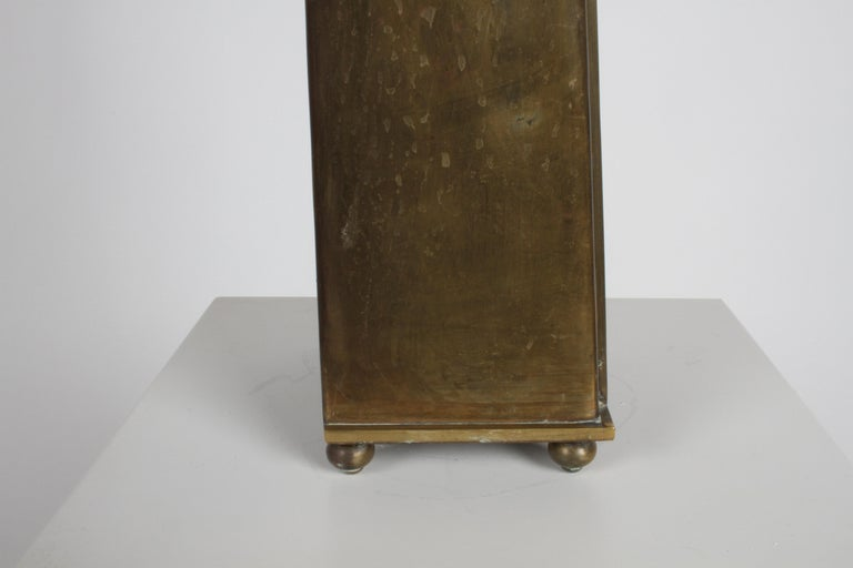 Hollywood Regency Edward Alden Brass Wall or Table Display Curio Parzinger Style For Sale 1