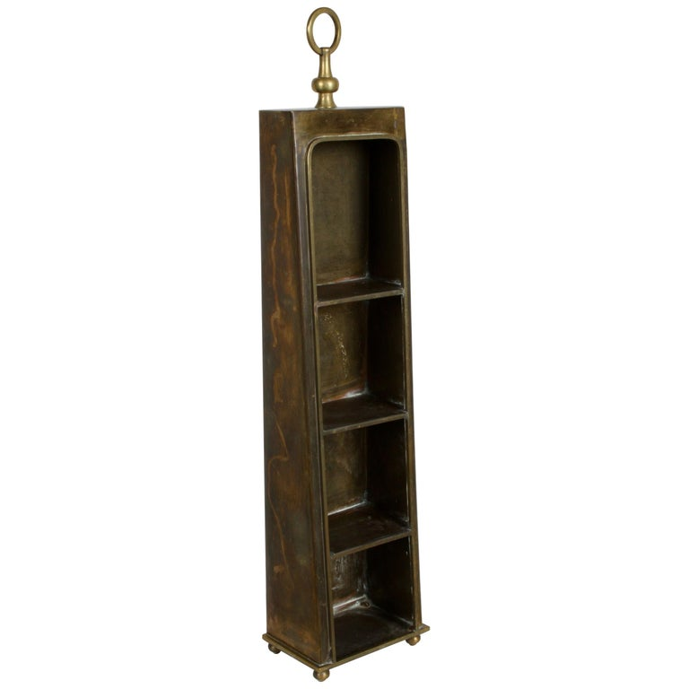 Hollywood Regency Edward Alden Brass Wall or Table Display Curio Parzinger Style For Sale